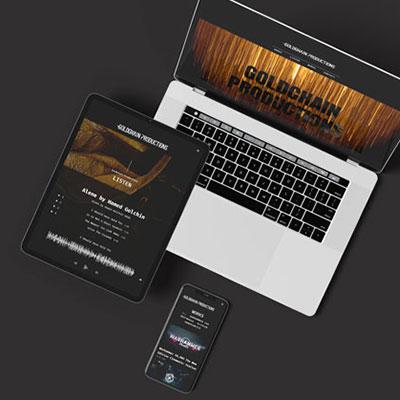 hjemmeside til goldchain productions
